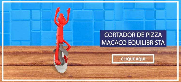 Para os amantes da cozinha um Cortador de Pizza Macaco Equilibrista