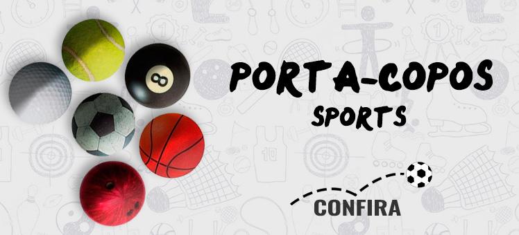 Demonstre paixão pelo seu time com os Porta-copos Sports