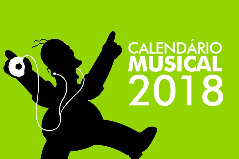 Calendário musical 2018